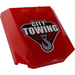 """LEGO Wedge 4 x 4 x 0.66 Curved with """"CITY TOWING"""" and Hook Sticker (45677)"""