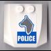 LEGO Wedge 4 x 4 x 0.66 Curved with Police Dog Sticker (45677)