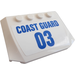 "LEGO Wedge 4 x 6 Curved with ""COAST GUARD 03"" Sticker (52031)"