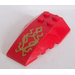 LEGO Wedge 6 x 4 Triple Curved with Gold Dragon Head Sticker (43712)