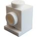 LEGO White Brick 1 x 1 with Headlight and Slot (4070)