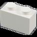 LEGO White Brick 1 x 2 (3004 / 93792)