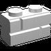 LEGO White Brick 1 x 2 with Embossed Bricks