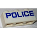 LEGO White Brick 1 x 3 with Blue Letters 'Police' Sticker