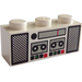 LEGO White Brick 1 x 3 with Double Tape Deck and Radio Decoration