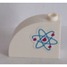 LEGO White Brick 1 x 3 x 2 Curved Top with Heart Electron Orbitals Pattern (Left) Sticker