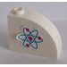 LEGO White Brick 1 x 3 x 2 Curved Top with Heart Electron Orbitals Pattern (Right) Sticker