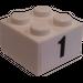 LEGO White Brick 2 x 2 with 1 Sticker