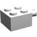 LEGO White Brick 2 x 2 with Pin and No Axle Hole