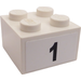 LEGO White Brick 2 x 2 with Sticker from Set 8389
