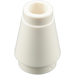 LEGO White Cone 1 x 1 with Top Groove (59900)