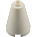 LEGO White Cone 2 x 2 x 2 (Completely Open Stud) (3942 / 14918)