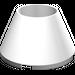 LEGO White Cone 4 x 4 x 2 Hollow Studless (4742)
