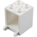 LEGO White Container 2 x 2 x 2 with Recessed Studs (4345)
