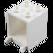 LEGO White Mailbox Casing 2 x 2 x 2 (4345)