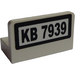 LEGO White Panel 1 x 2 x 1 with 'KB 7939' Sticker without Rounded Corners