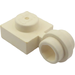 LEGO White Plate 1 x 1 with Clip (Thin Ring) (4081)