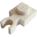 LEGO White Plate 1 x 1 with Vertical Clip (Thin 'U' Clip) (60897)