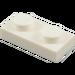 LEGO blanc assiette 1 x 2 (3023)