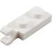 LEGO White Plate 1 x 2 with Horizontal Clip on End (63868)