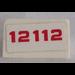 LEGO White Slope 1 x 2 (31°) with '12112' Sticker