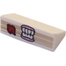LEGO White Slope 1 x 2 (31°) with Book Pages, Pink Gums and White Teeth