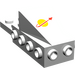 LEGO White Space Nose with Classic Space Logo