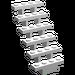LEGO White Staircase 7 x 4 x 6 Open