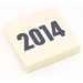 LEGO Tile 2 x 2 with '2014' Print with Groove (3068)