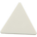 LEGO White Triangular Sign with Clip (30259 / 65676)
