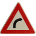 LEGO White Triangular Sign with Clip with Right Turn Sign