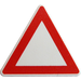 LEGO White Triangular Sign with Clip with Warning Triangle