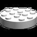 LEGO White Turntable 4 x 4 Top (Non-Locking) (3404)