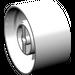 LEGO White Wheel 24 x 43 Technic (3739)