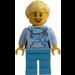 LEGO Woman in Bright Light Blue Sweater Minifigure