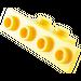 LEGO Yellow Bracket 1 x 2 - 1 x 4 without Rounded Corners (2436)
