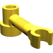 LEGO Yellow Brick 1 x 1 x 2/3 Round with Bar and Vertical Clip (4735)