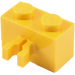 LEGO Yellow Brick 1 x 2 with Vertical Clip (Gap in Clip) (30237)