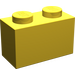 LEGO Yellow Brick 1 x 2 without Bottom Tube