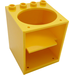 LEGO Yellow Cabinet 4 x 4 x 4 with Sink Hole (6197)