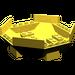 LEGO Yellow Cockpit 10 x 10 x 4 Octagonal Base (2618)