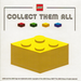 LEGO Yellow Collect Them All Promotional Sticker