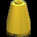 LEGO Yellow Cone 2 x 2 x 2 (Safety Stud) (3942)