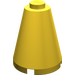 LEGO Yellow Cone 2 x 2 x 2 (Solid Stud) (3942)