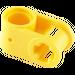LEGO Yellow Cross Block 90° 1 x 2 (Axle/Pin) (6536)