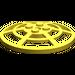 LEGO Yellow Dish 6 x 6 Inverted Webbed Type 2 (Squared Holder Underneath) (4285)