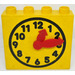 LEGO Yellow Duplo Clock Face with Movable Red Hands and Yellow Face
