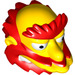 LEGO Yellow Groundskeeper Willie Minifig Head (20149)