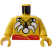 LEGO Yellow Islander King Torso with White Tooth Necklace with Yellow Arms and Yellow Hands