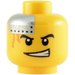 LEGO Minifigure Head with Decoration (Safety Stud) (64881)